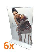 6x A3 Acrylic Sign Holder