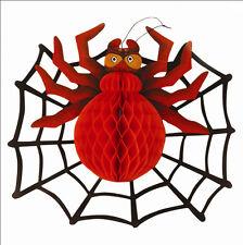 3d Spider e web Decorazione Halloween Spooky stanza parete Scene Setter