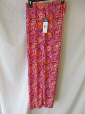 Chaps Polyester Size XL Purple Paisley Knit Casual Pants SR $70 NEW   30