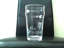 The Prisoner Patrick McGoohan Etched Engraved Beer  Pint Glass