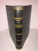 Memento des architectes et ingénieurs par Toussaint 1826 menuiserie serrurerie