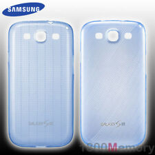 GENUINE Samsung Galaxy S3 S III Slim Cover Two 2 Patterned Cases Blue Twin Pack