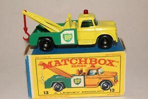 MATCHBOX 13D DODGE BP WRECKER TOW TRUCK, EXCELLENT, BOXED TYPE E