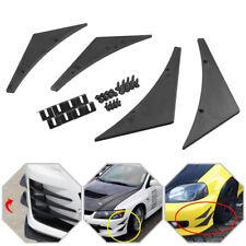 4x Universal Carbon Fiber Car SUV Front Side Bumper Lip Kit Body Spoiler Canards