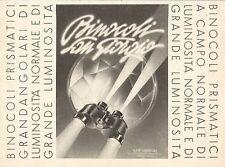 W2793 Binocoli Prismatici SAN GIORGIO - Pubblicità del 1939 - Old advertising