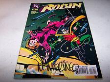 SIGNED MIKE WIERINGO ROBIN #18 DC 1ST PRINT BATMAN'S CRIME FIGHTING PARTNER