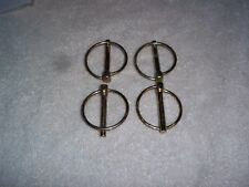 """4 - 3/16"""" NEW LYNCH PINS LOT ZINC PLATED PIN SPRING LOADED RING hardware Tractor"""