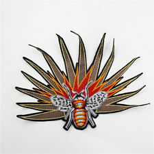 New Bee with fire Fashion Embroidered Sew On Jacket Patch DIY Clothing Applique