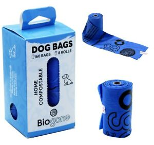 Compostable Dog Poo Bags 160 Biogone Pet Poop Bag | SMALL ROLLS Fit in Pocket