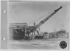 Vintage American Hoist Railroad Car Crane front Rock Island Freight Stationphoto