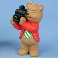 Hallmark Dad Bear With Camera Snowmen Keepsake Ornament Original Box NOS