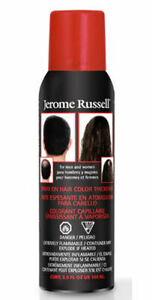 Jerome Russell Jet Black Spray on Hair Color Thickener 3.5 oz 2-PK