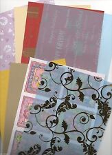 40 X A5 SHEETS ASSORTMENT BACKING PAPER/CARD, PATTERN, EMBOSSED FREE P/P