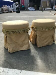 Pair of Lovely Vintage Small Vanity Chairs