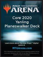 MTG Magic Arena Planeswalker Deck Code. M20 Yanling/Chandra/Vivien deck.