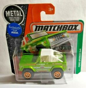 MATCHBOX SUPERFAST DIECAST FORD BRONCO 4 X 4 - WORLD TRAVELS - FACTORY SEALED