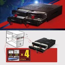 4x 2.5''/3.5'' Enclosure SATA Hard Drive HDD SSD Frame Mobile Rack Bay Tray Dock
