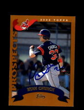 Ryan Church Autograph Signed 2002 Topps Traded Indians