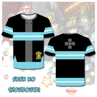 Anime Enn enn no Shouboutai Fire Force Cosplay Short T-Shirt Casual Tops Tee