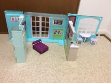 2007 Barbie Doll My House Playset Fold Up Dollhouse Kitchen Bathroom Furniture