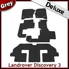 Landrover Discovery 3 7Seater Tailored LUXURY 1300g Car Mat 2 Clip GREY