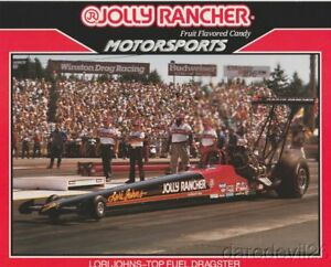 1990 Lori Johns Jolly Rancher Top Fuel NHRA postcard