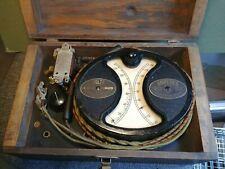 Antique Weston Electrical Instrument Model 240 amperes voltmeter wood case 1901