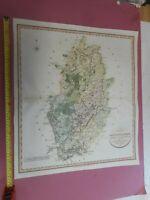 100% ORIGINAL LARGE NOTTINGHAMSHIRE MAP BY JOHN CARY  C1804 ORIGINAL COLOUR