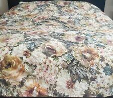 Anthropologie Multicolor Floral Watercolor Duvet Cover Queen Piubelle