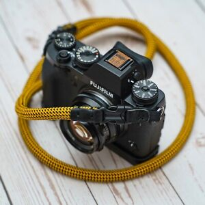 HandMade Quick Release Buckle Leather Rope Camera Strap 10mm Yellow 100 120cm