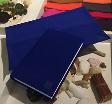Pack of 5 Regular 8x10 BLUE Fabric BOOK COVERS Stretchable Reusable Made in USA