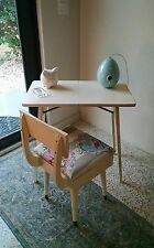 Vintage Folding Table & Sewing Chair