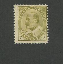 1903 Canada 7 Cent Olive Stamp Scott #92 King Edward Vii Cv $260