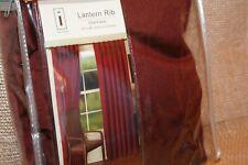 """Initials Lantern Rib Tab Top Drapery Window Panel Set New Topsail Red 42"""" x 84"""""""