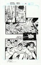 AMANDA CONNER SIGNED 2007 BATMAN, SUPERMAN, WONDER WOMAN, GREEN LANTERN ORIG ART