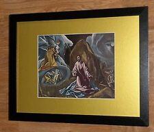 """Incorniciato 12"""" x16"""", El Greco, CRISTO, i comandanti dipinti, BIBBIA DIPINTI"""