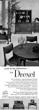 Drexel Dateline Mahoany Mid Century Modern Furniture DINING ROOM 1957 Print Ad