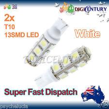 2x T10 WHITE 13SMD 5050 LED for Car Side Light Parker Bulb Lamp DC 12V