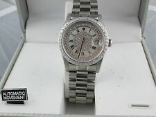 Mens Croton Swiss Movement Automatic Watch Stainless Steel Sapphire Crystal
