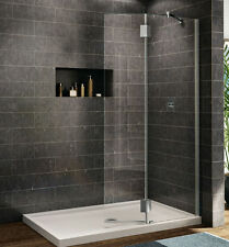 "FLEURCO 39"" x 75"" EVOLUTION MONACO 3/8"" GLASS FRAMELESS SQUARE SHOWER SHIELD"