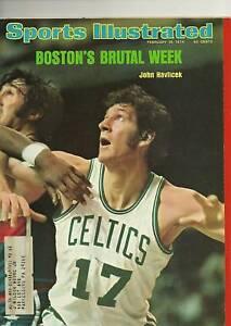 SPORTS ILLUSTRATED FEBRUARY 18 1974 JOHN HAVLICEK