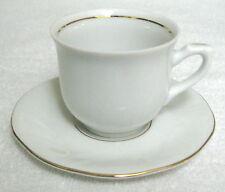 Porcelain Demitasse Expresso Cup & Saucer White Gold Trim Korona Poland