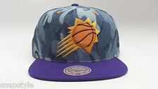 New Mitchell & Ness NBA Snapback Hat - Phoenix Suns Camouflage Denim 2 Tone