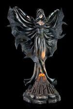 Negras Bruja Figura con rabenflügel - LED - Estatua Fantasy GOTHIC ángel oscuro
