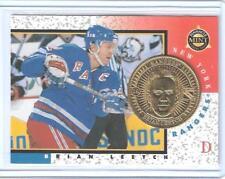 SUPER RARE 1997-98 PINNACLE MINT BRIAN LEETCH GOLD PROOF COIN & CARD #19 ~ 1/100