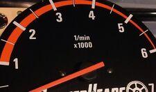 ORANGE BMW E30 Alpina style or Euro Tach stripe decal 325i 318i 7K RPM