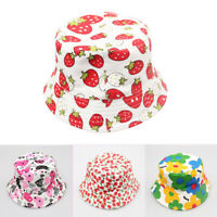 Girls Kids Baby Children Cap Flowers Decor Summer Straw Beach Sun Wide Brim Hat