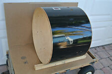 """ADD this 1990's Ludwig 22"""" ROCKER BASS DRUM SHELL in BLACK to YOUR SET! #V872"""