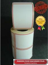 60x80 Direct Thermal Scale Labels 2100 Labels - Plain White with Red Border