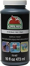 Apple Barrel Acrylic Paint in Assorted Colors (16 Ounce), 21148 Black NEW BEST